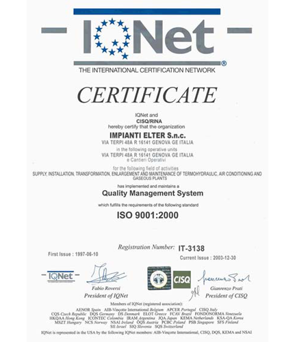 Services of<span> Quality </ span> and <span> certificate </ span>.
