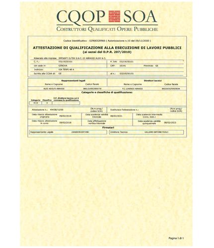 Servizi di <span>qualità</span> e <span>certificati</span> .